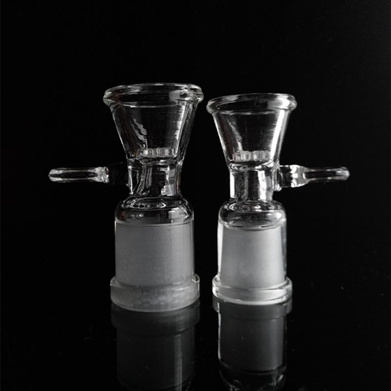 Glass Bowl For Bongs With Screw Honeycomb Screen 14.5mm 18.8mm Female Joint Glass Bong Accessories for Smoking Pipe