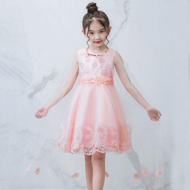 8c8d560c6f11 Flower Girl Baby Princess Dress Summer Children Sequin Beaded ...