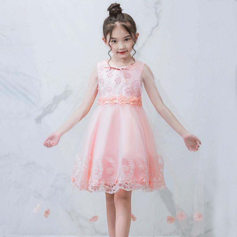 8d2bb2a33 Compre Niña De Las Flores De La Princesa Del Bebé Vestido De Verano Niños  Lentejuelas Con Cuentas Extraíble Chal Vestido De La Muchacha De La  Bailarina Del ...