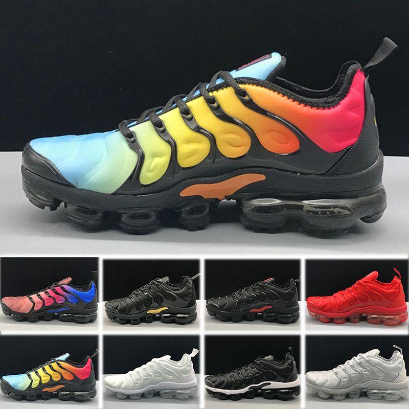 premium selection 5b172 f61b2 Compre 2018 Nike Air Max Tn Plus Olive Women Womens Sports Running Shoes  Mujeres Zapatillas Metallic White Silver Colorful Triple Black Tamaño Del  Zapato 36 ...