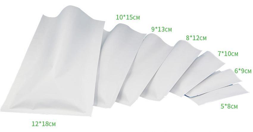 Sellado térmico a color Bolsillo de aluminio Bolsa de papel Mylar Bolsa a prueba de olor abierto Superior Bolsas de embalaje Té de café Muestra cosmética GGA107