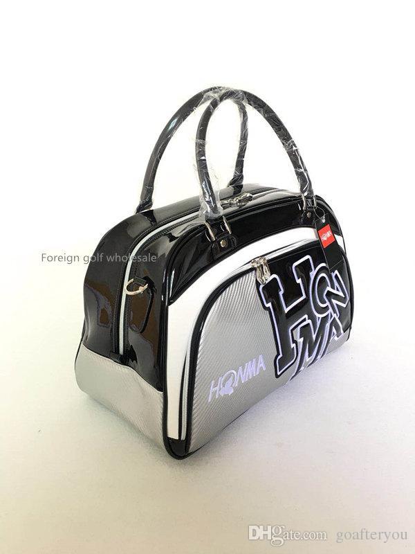 جديد honma حقيبة ملابس الغولف للجنسين حقيبة سفر الرياضة الراقية كريستال بو الجلود حقيبة الغولف بوسطن