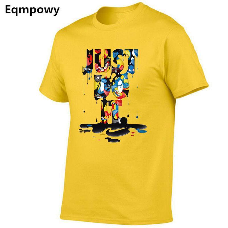 4dc341b9e32c7 Compre 2018 Nueva Moda Just Do It Camiseta Marca Ropa Hip Hop Carta  Impresión Hombres Camiseta Manga Corta Anime Alta Calidad Camiseta Hombres  A  35.11 Del ...