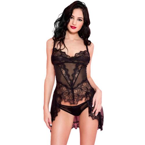 Fashion Sexy Lingerie Women Sleepwear Lace Women s G-string Dress ... 1140072442