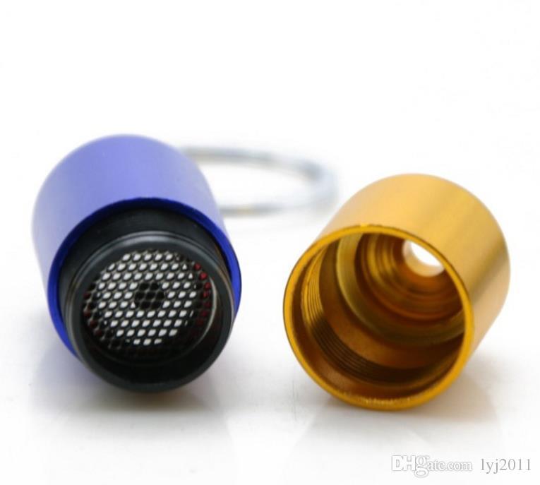 Conjunto de fumar cachimbo de metal portátil cápsula multicolor tubo de alumínio telescópico