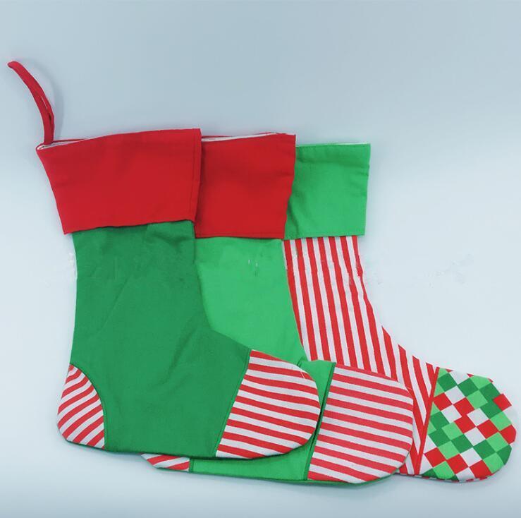 Großhandel Weihnachtsstrumpf Geschenke Taschen Xmas Print Striple ...