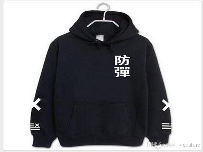 Kpop BTS пуленепробиваемый молодежный клуб снятия шерсти шерсть экипажа шеи толстовка с капюшоном толстовки пальто женщин куртка BTS детей