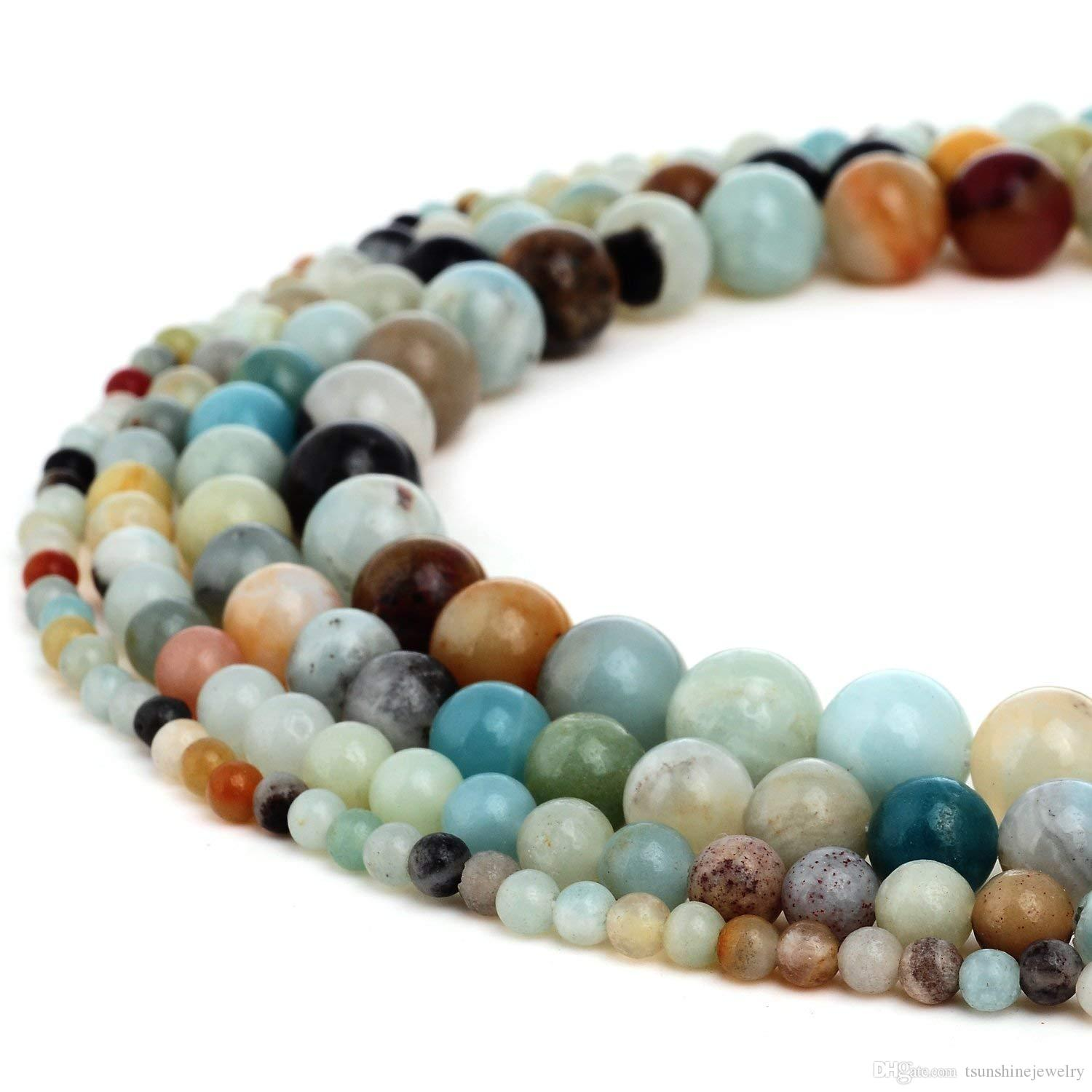 Beads & Jewelry Making Wholesale Faceted Blue Sand Stone Round Loose Beads For Jewelry Making 15.5inches 4 6 8 10 Mm Diy Bracelets Necklace Jewellery Beads