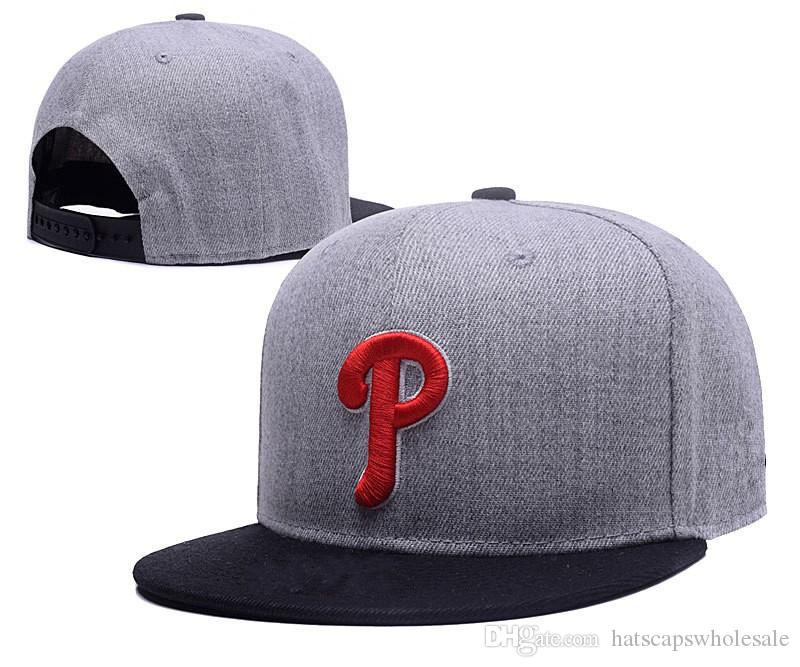 New Arrival Phillies Snapback Hats Gray Color Embroidered P Letter Team  Logo Brand Hip Hop Sports Baseball Adjustable Caps Richardson Caps  Customized Hats ... 71592676d8a