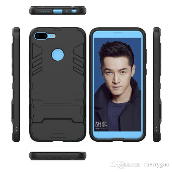 promo code c7383 5d046 Phone Shell For Huawei Honor 9 Lite Case Stand Holder TPU&PC Plastic Hard  Silicone Dual Armor Cover For Honor 9 Lite