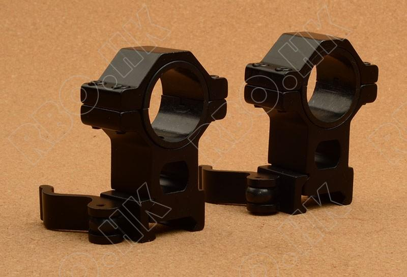 1-1.25 inch rifle scope red dot ring with qd 20mm picatinny weaver mount base M5388