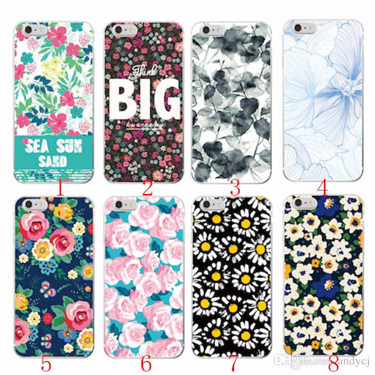 1f6d95903d Floral Flowers Rose Daisy Cherry Blossom Trendy Fashion Cute Soft TPU  Printed Case For IPhone 7Plus 7 6S 6Plus 8 8Plus X Cell Phone Cases Covers  Cell Phone ...