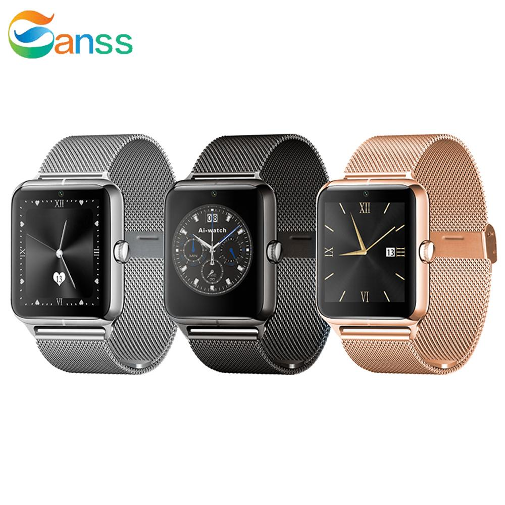 Bluetooth Smart Watch Wristband with Camera Support Android IOS Wristwatch SIM GPS Intelligent Mobile Phone Answer Call Remote Control