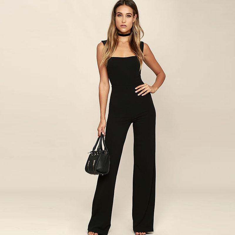 73dcbc37d7b6 2019 Sexy Spaghetti Strap Halter Rompers Women Jumpsuits Long Pants ...