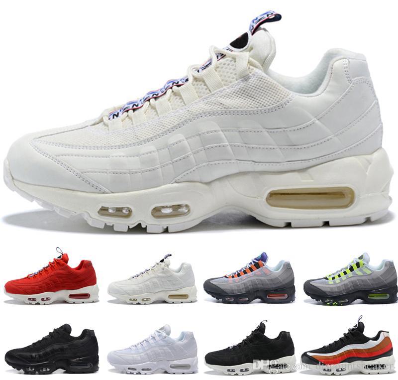 Designer 95 Men Women Running Shoes What The OG Grape Neon TT Black ... aec6bf455