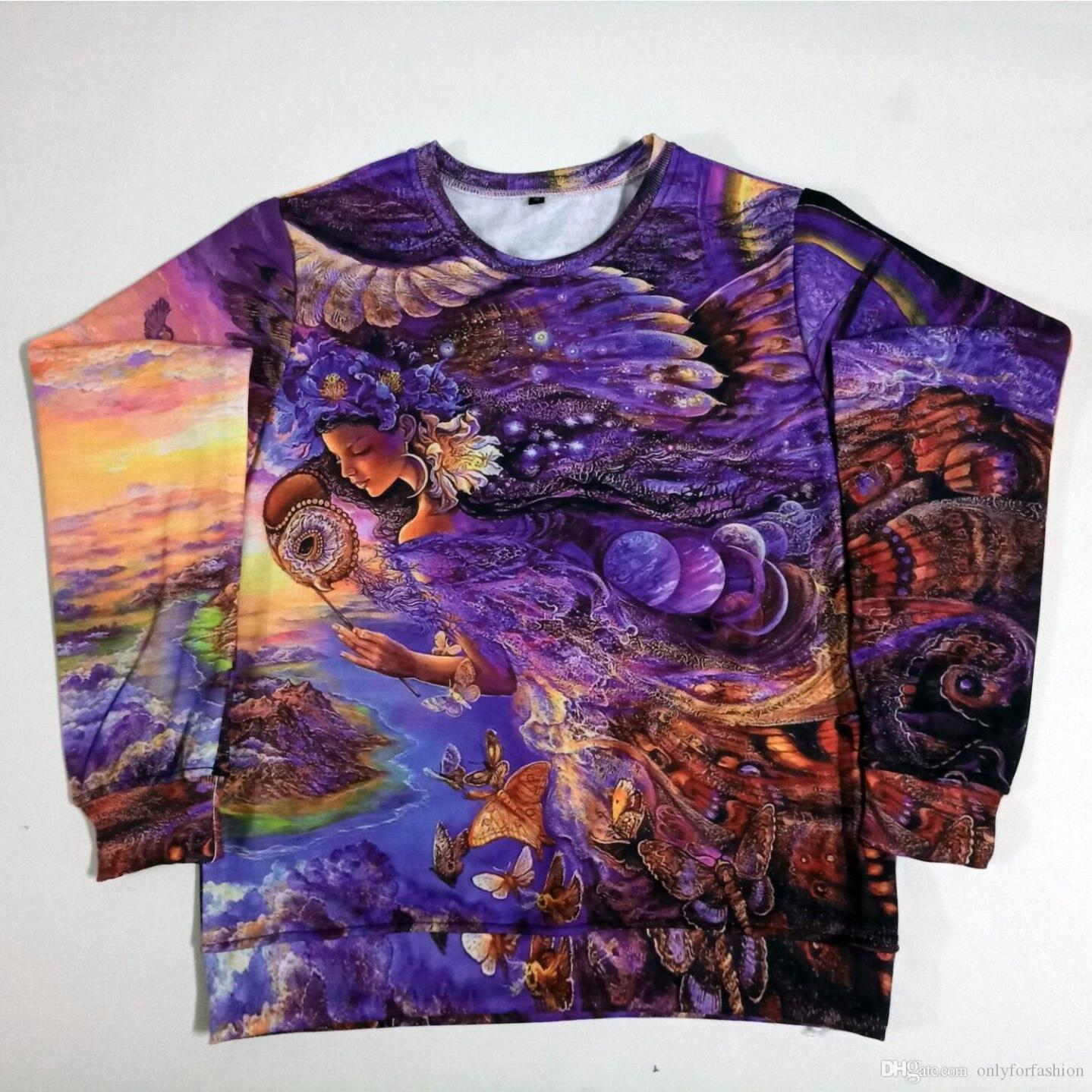 47b8dd51d65 Real USA Size queen of the night 3D sublimation printing Sweatshirt  Crewneck Plus Size 3XL 4XL 5XL 6XL