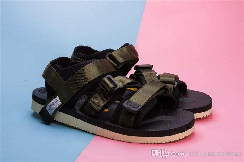 1f26f7210b0f 2018 Newest Nice Quality Stussy X Suicoke OG 056STU   MOTO STU Summer Trip  Fest Olive Camo Sole Slides With Box Pink Shoes Salt Water Sandals From ...