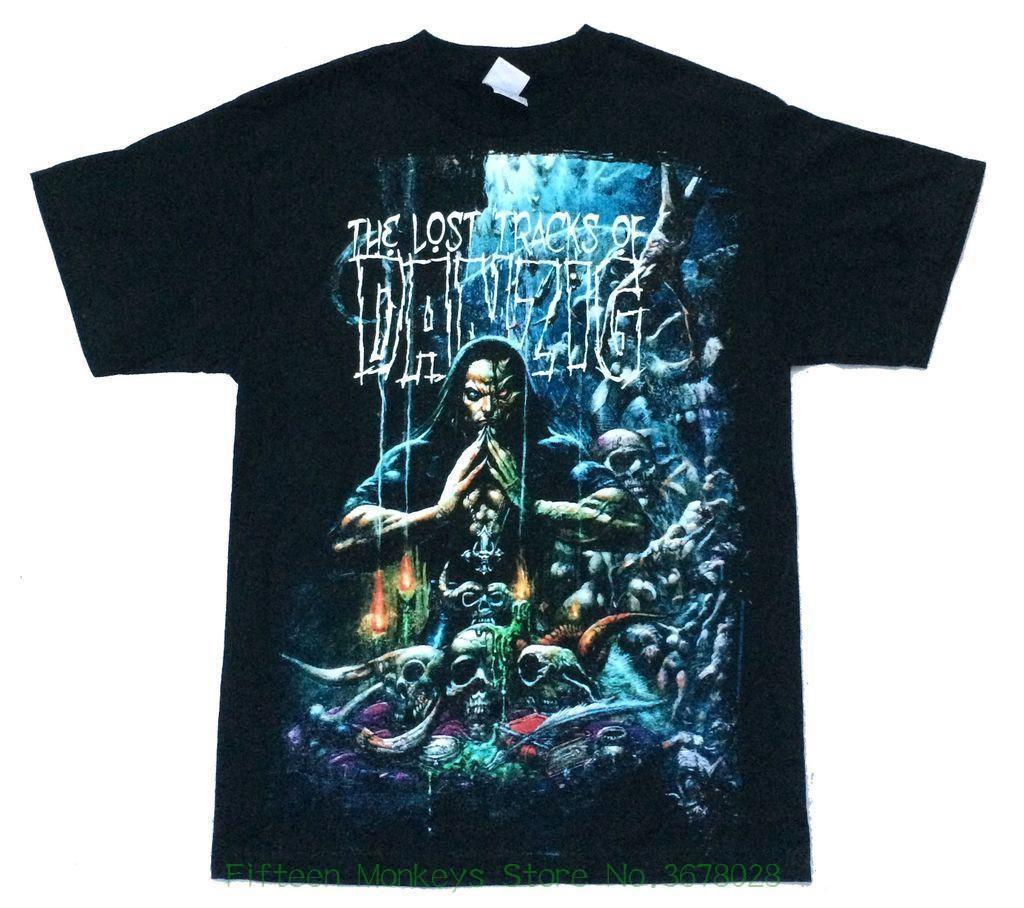Homme High Quality Danzig Lost Tracks 3 Weeks Halloween Tour Black T Shirt New Nos Rare Limited