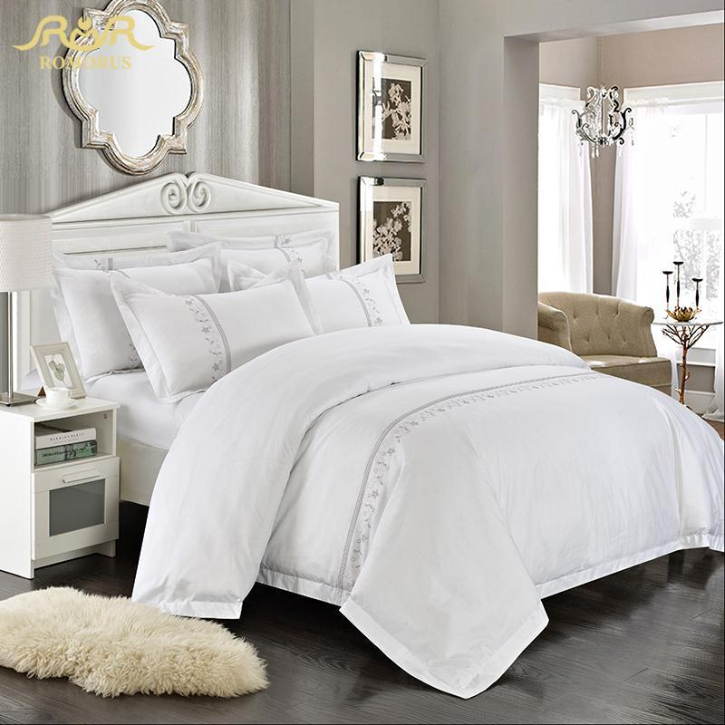 Romorus Wholesale Hotel Bedding Set 4/White King Queen Size 100 ...