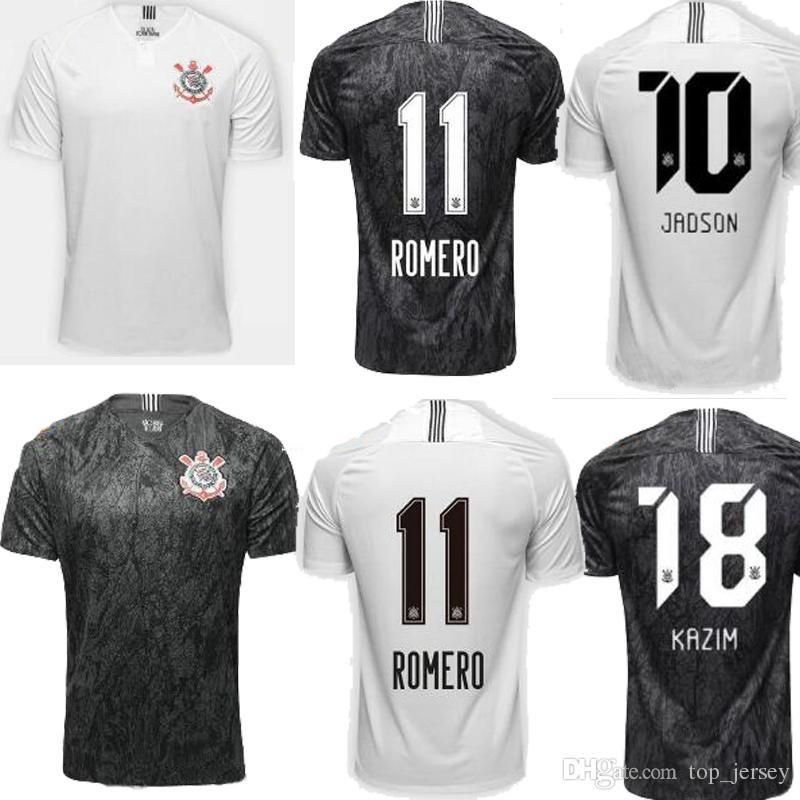 f6c9768f79be9 2018 Camiseta De Fútbol Brasil Corinthian 18 19 Paulista Inicio Negro Lejos  Blanco PABLO Calidad Superior Johnath Marlone Camiseta De Fútbol Uniforme  Por ...