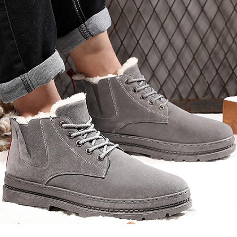 9c0792109ae 2019 Winter Snow Boots Ankle Boots Men Warm Plush Fashion Shoes ...