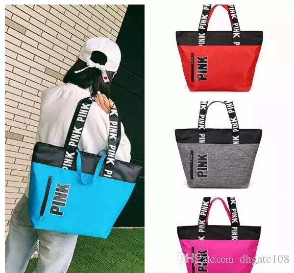 Pink Handbags Shoulder Bags Women Love Handbags Large Capacity Travel  Duffle Striped Waterproof Beach Shoulder Bag CCA7602 Designer Handbags On  Sale Black ... a436d74c4aa8a