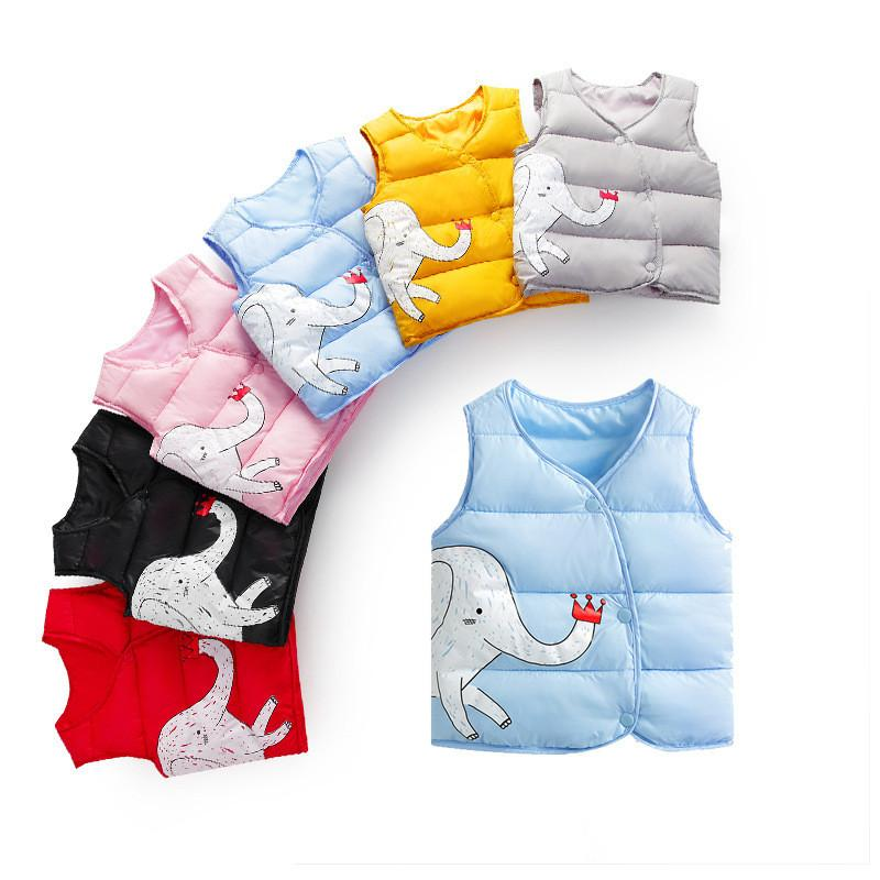 ac626150c51b Girls Vests Children Girl Autumn Winter Coat Cotton Warm Vest Baby Girls  Waistcoat Cartoon Print Girls Vest Outerwear Boys Navy Waistcoat And  Trousers Boys ...