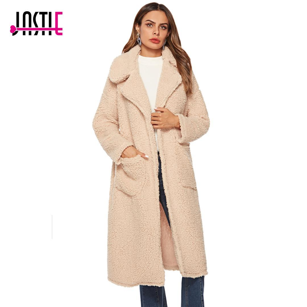 Teddy Jas We.2019 Jastie 2018 Winter Coat Jacket Fake Fur Thick Warm Teddy Coat