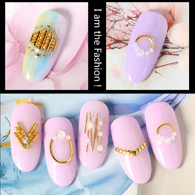 Fashion Nail Art Accessory Nail Metal Curved Stick Tip Decoration