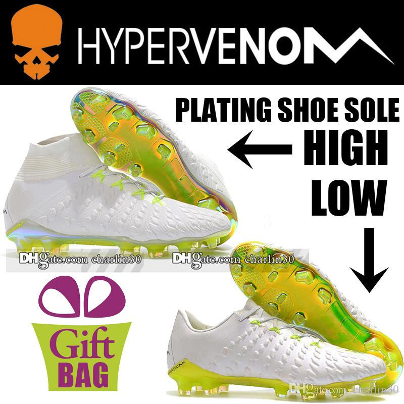 best sneakers eafe5 27618 New Original Cheap Football Cleats Leather Hypervenom Phantom III Elite FG  Soccer Boots Low Hypervenom Outdoor ACC Soccer Shoes US 6.5-12