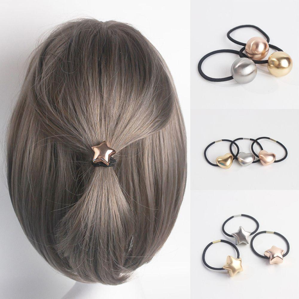 Girl Children Elegant Stylish Ball Star Heart Hair Rope Ponytail Holder Bun  Maker Simple Woman Elastic Hairstyle Accessories Jewelry Headband Jewelry  ... 05cdcc23cdca