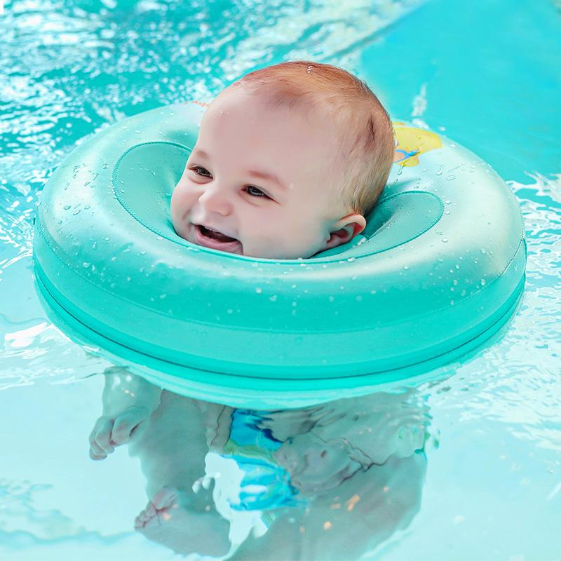 2018 Solid Baby Swimming Neck Ring Baby Neck Float Flot Adores Para ...