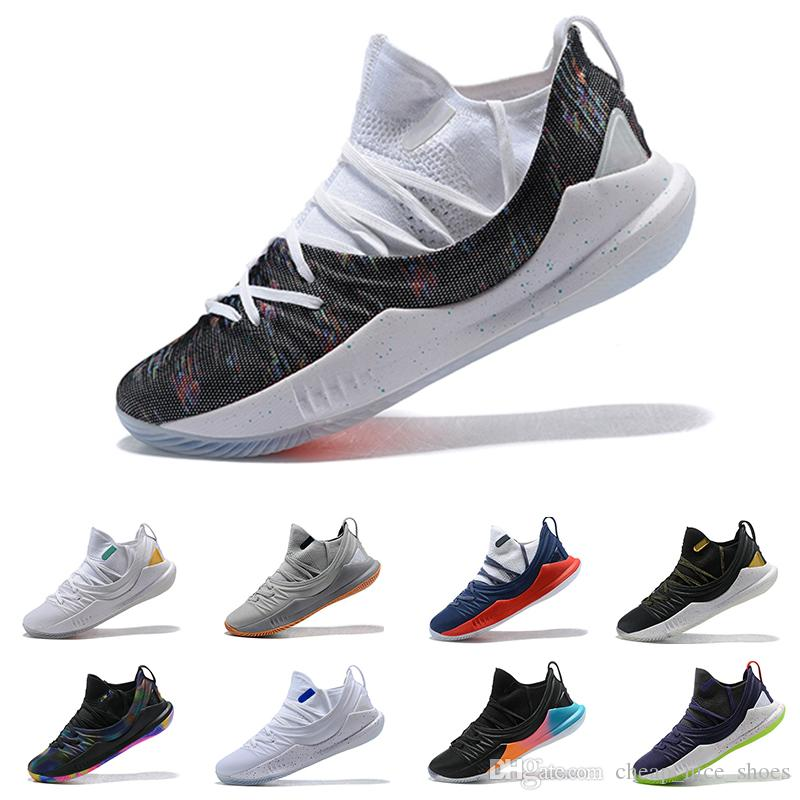New Stephen Curry 5 Low Basketball Shoes Stephen Mens Curry 5  Gold Championship Mvp Finals Sports Training Sneakers Run Shoes Size 7 12  Shoe Shops Cheap ... 38583e37c7d6