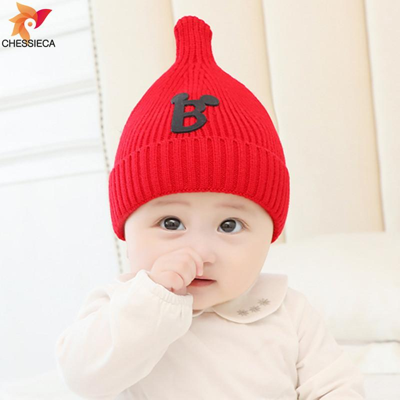 06665470abeb3 CHESSIECA 2018 Wholesale Baby Hats Autumn Winter 3-6-12-24 Months Knitted  Hats Boy Girls Warm Newborn Brand New Cute Baby Caps