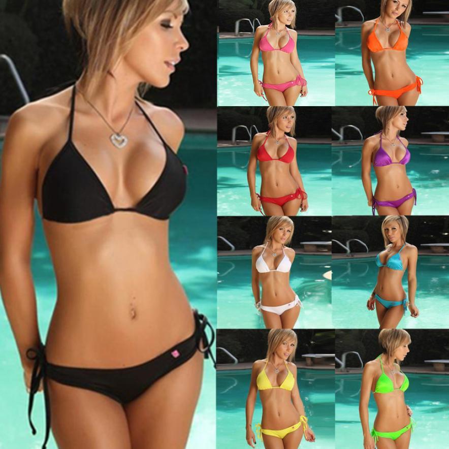 a008abf66d6 2019 2018 New Swimwear Women Bikini Set Push Up Bandeau Bra Bandage Swimsuit  Bathing Suit Swimwear Maillot De Bain Femme From Freea, $34.37 | DHgate.Com