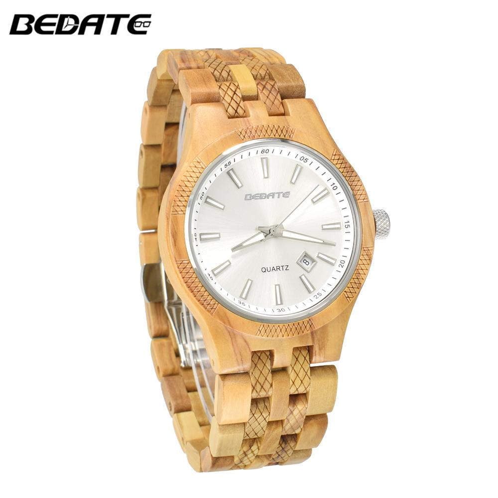 dd630b2d95f Compre BEWELL Top Marca De Luxo Relógio De Madeira Relógio De Quartzo  Relógio De Pulso De Quartzo Relógio De Pulso De Madeira Cheia Natureza  Relogio ...