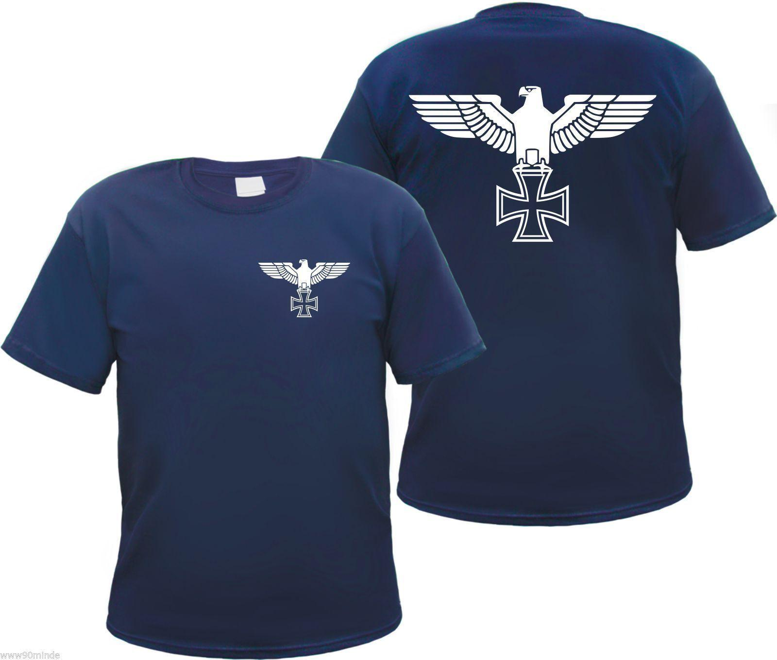 a3c02b457 Imperial Eagle Men's T Shirt Iron Cross Navy S To 3xl Front / Back Custom  Made Good Quality T Shirt Top Tee