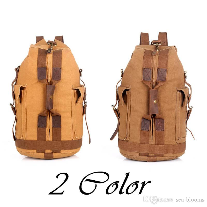 2019 Canvas Backpack Vintage Canvas Backpack Hiking Daypacks Backpacks  Unisex Casual Rucksack Satchel Bookbag Mountaineering Bag For Men G168S  From Sea ... ddb51751f3328