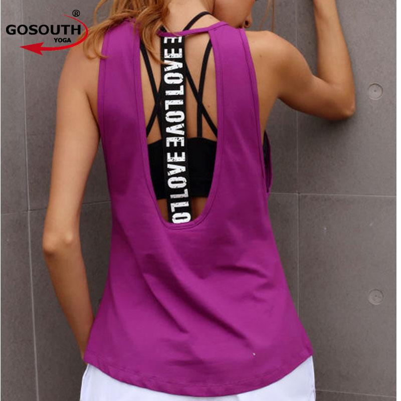 644c6be5c91a46 2019 Women S Yoga Tank Top Sleeveless Running Gym Fitness Shirts Sexy  Sports Vest Workout T Shirts G 504 From Onecherry