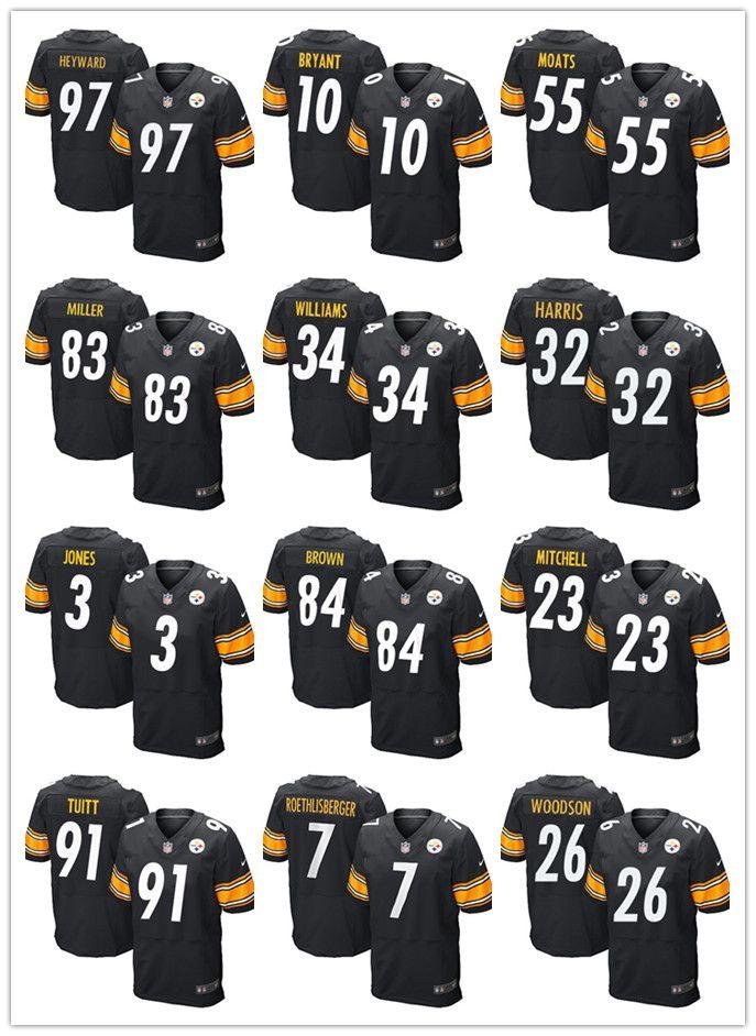 e031a2292 Pittsburgh Steelers 7 Ben Roethlisberger 26 Bell Jersey 84 Antonio ...