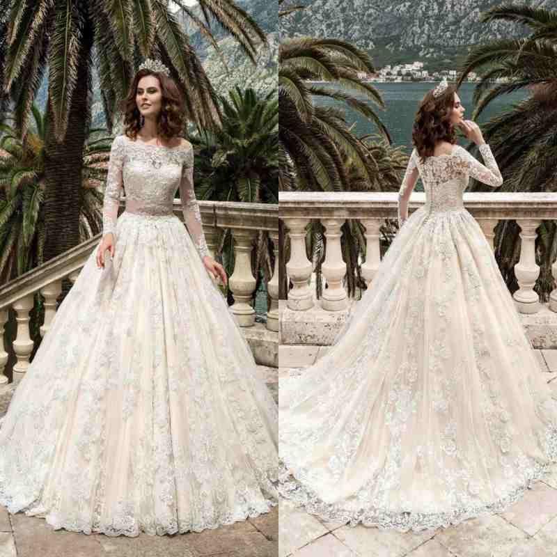 Designer Wedding Gowns Dresses: 2019 Designer Full Sleeves Lace Wedding Dresses Vestidos