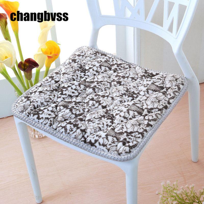 Modern Striped Outdoor Chair Cushions Non Slip Seat Cushion Car Mat