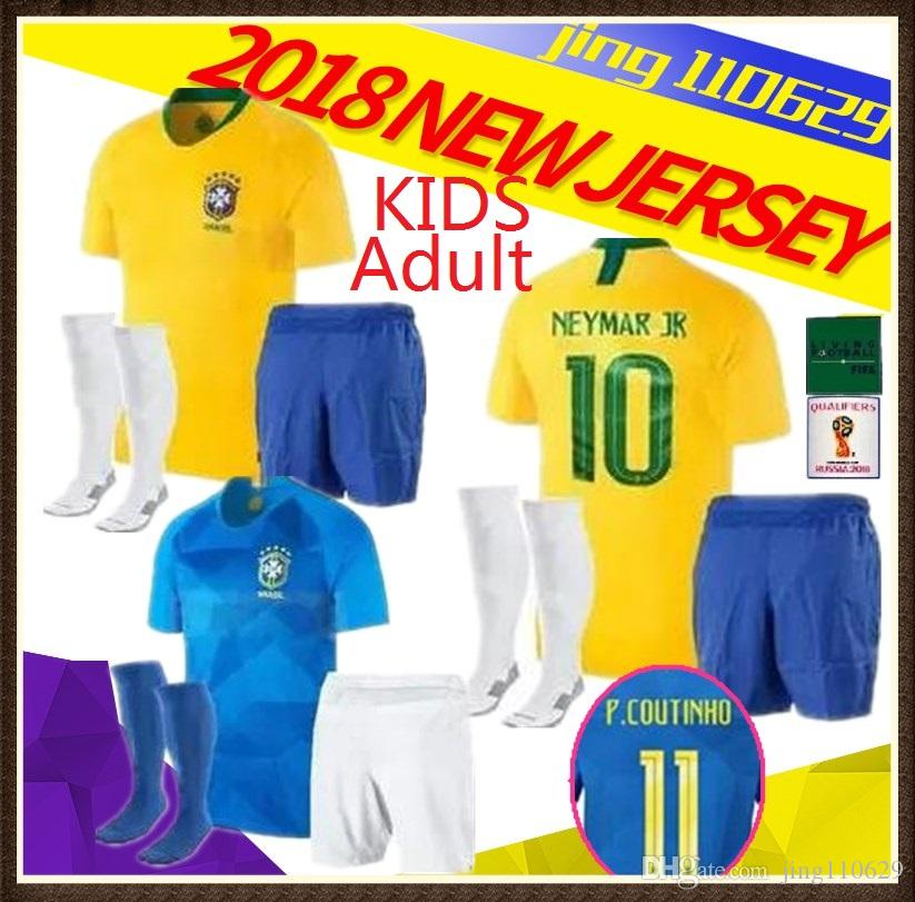 2019 2018 2019 Adult And Kids World Cup Brasil Futbol Camisa Brazil  Coutinho Gesus Soccer Jerseys Football Camisetas Shirt Kit Maillot From  Jing110629 a7e94d3a80169
