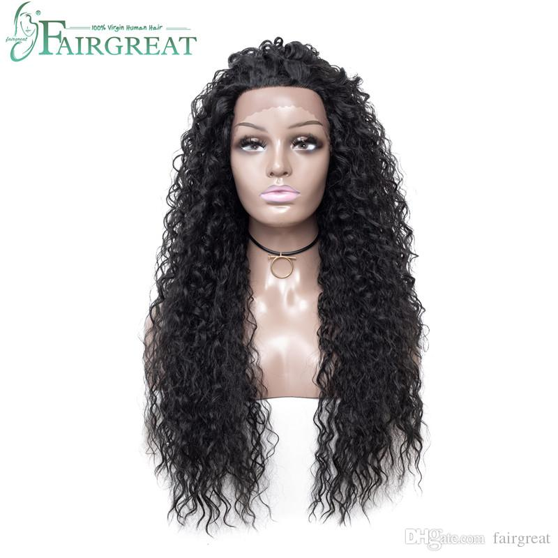 Fairgreat Long Ombre Water Wave Synthetic Lace Front Wigs High Density Heat Resistant Synthetic Hair Wigs For Women 26inch