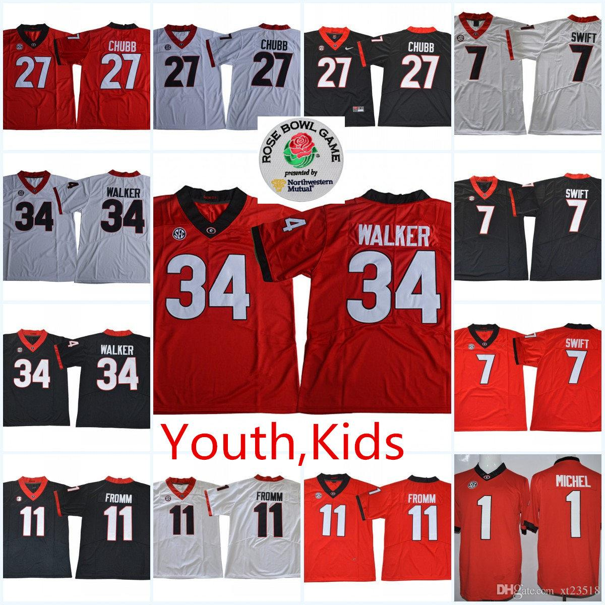 0a2a42fe1 2019 Youth NCAA SEC Georgia Bulldogs Jake Fromm College Football Jerseys  Kids Nick Chubb Herchel Walker Georgia Bulldogs Legend Jersey S 2XL From  Xt23518