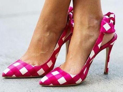 Rome Plaid High  Heel Sandalo For Donna Pointed Toe Bowtie Slingback  High  13ca89