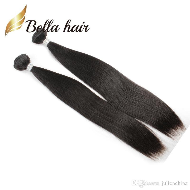 Bundles 100% 9a Brasilian Remy Virgin Human Haft Weft Silky Straight Natural Color Julienchina Bellahair