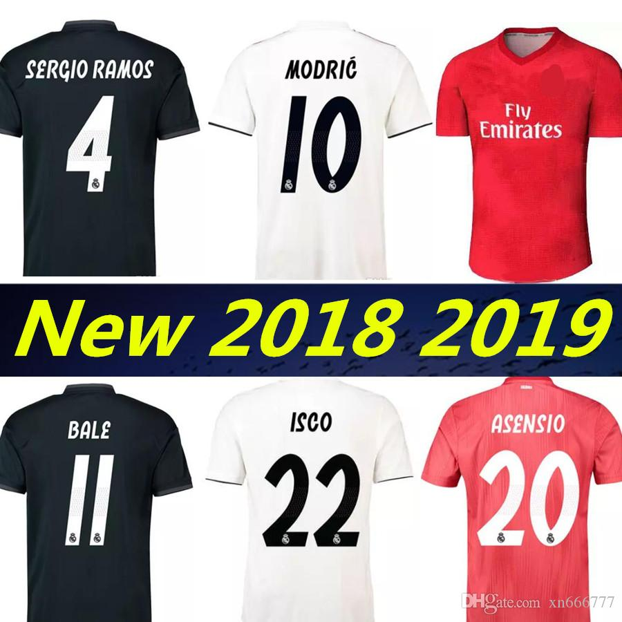 2019 Real Madrid 2019 RONALDO ASENSIO BALE ISCO Home Away 3rd Soccer Jersey  RAMOS BENZEMA Shirt 2018 Camiseta Real Madrid Football Kit Jerseys From  Xn666777 ... 61cf2ddcd