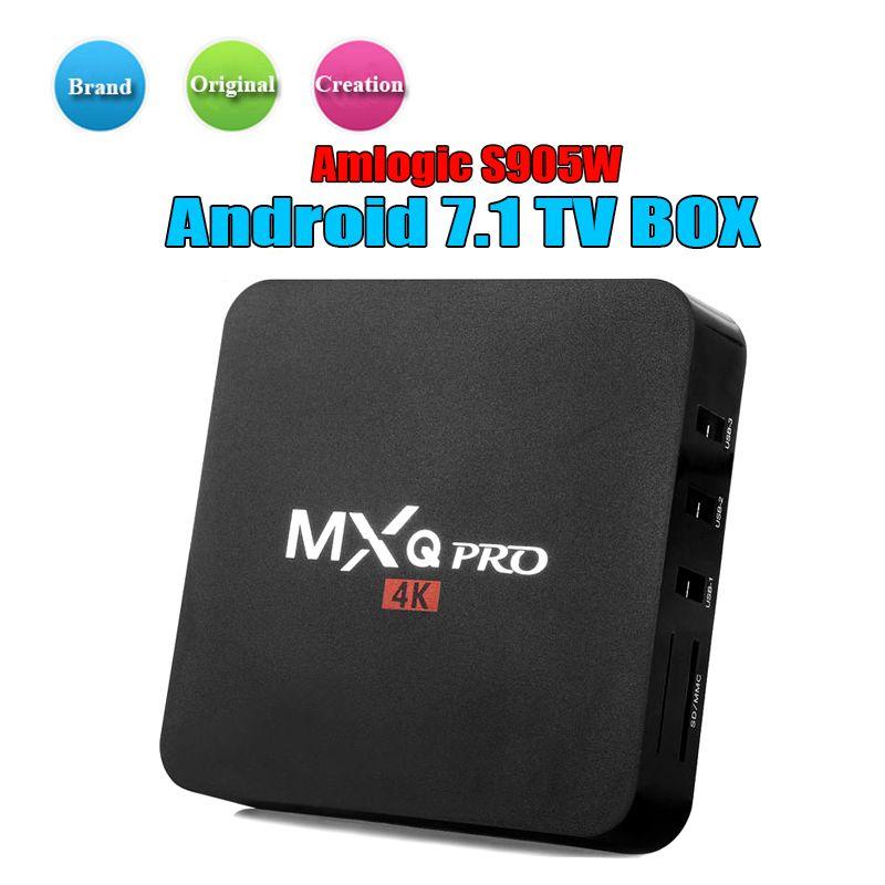 Tv Android Box Mxq Pro 4k Android Tv Box Quad Core Amlogic S905w
