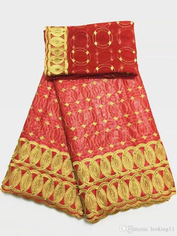 5Y bonito limão tecido africano Bazin brocado do laço verde e 2A francês bordados rendas líquidas com contas para o vestido BZ1-1